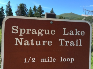 We walked the 1/2 mile loop around Sprague Lake and ventured out off the trail in a few places.