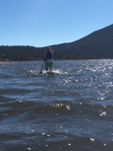 "Lots of wind and whitecaps made stand up paddle boarding more like ""kneel paddle boarding"""