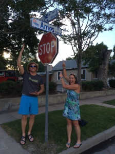 "We found a ""sign"" of back home in downtown Denver!!"