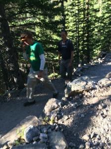 The Iron Hippie and Allen still hiking.