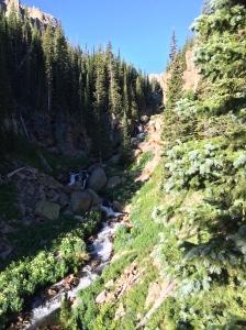 A beautiful waterfall along the trail.