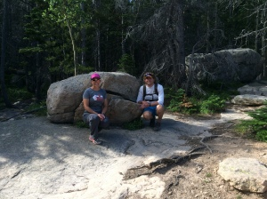 "The Iron Hippie and me by the ""smiling"" rock."