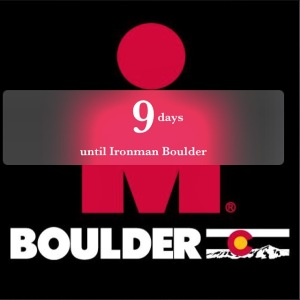 We are now onto single digits for the countdown to IMBoulder!!