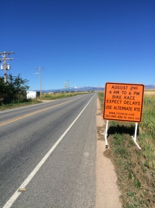 The signs are up on the roads to warn drivers to expect delays next Sunday...it is getting real :)