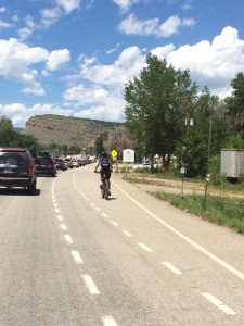 Traffic jam...took us 31 minutes to go 9.2 miles thanks to a festival in Lyons.