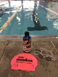 Monday Motivation...Ironman Wisconsin swim cap with only 6 days until race day.