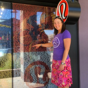 I found my name in the Ironman recognition window at Lululemon in Boulder.