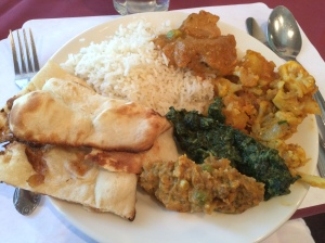 My Indian meal...full of yummy goodness!!