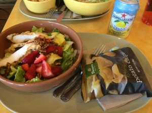 My Panera salad for lunch hit the spot!!