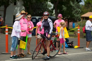 Smiles for all...even at mile 70 on the bike.