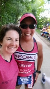 Erin...one of my Coeur Sports teammates and my angel on race day!!