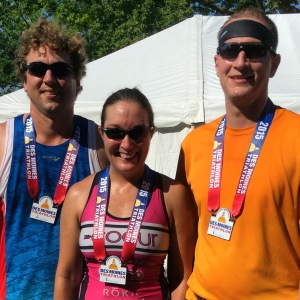 Team Kecia crossed the finish line at the Des Moines Triathlon...job complete.