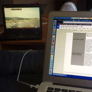 Watching #IMKONA World Championships and grading student work at the same time. Multitasking at its finest :)
