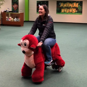 Riding a motorized animal because I can :)