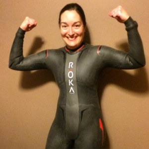 Yahoo!! So pumped for my new Roka Sports wetsuit!!