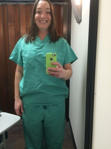 I could get use to wearing scrubs...Super comfy!!