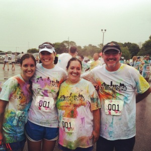 Color Run Fun with the FAM :)