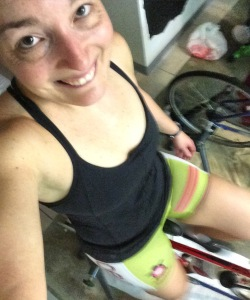 Recovery ride in my lucky Coeur Sports shorts!!