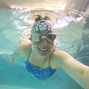 Recovery swim, but I had more fun playing with my new GoPro after my swim!!
