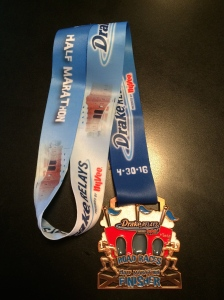 Drake 1/2 marathon is in the books! Official finish time = 1:54:23