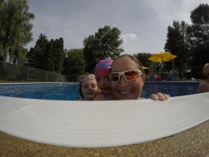 Swimming with 2 of my favorite girls!