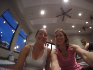 Hot yoga...a date with my mat is always better with friends!!