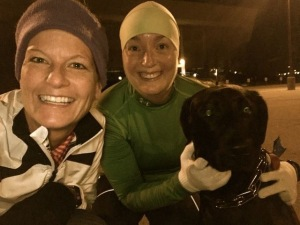 Running with my sole sister and Basil makes the world a better place!