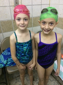 My twin nieces had their first swim meet this month!