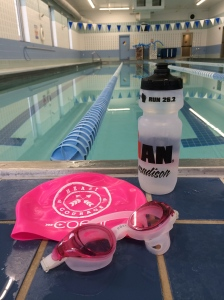 Chlorine therapy...Serious #swimlove in a pool all to myself as I work to #findfaster today!