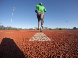 800 repeats while I work on my mental game at the track!