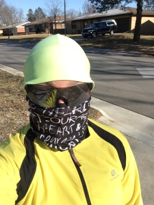 Running ninja style when it is 2F outside!
