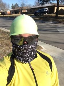 Running ninja style when it is 2F outside!