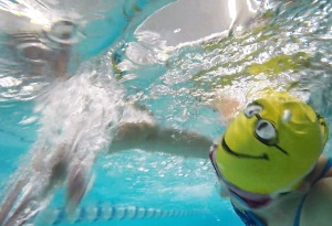 This swim cap makes me smile!