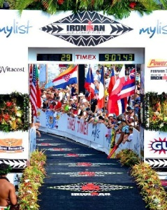 I dream of seeing the Ironman World Championships finish line in Kona!