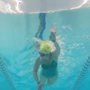 Not fast, not far, and my form still needs work, but I was swimming pain free!